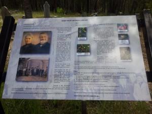 Shady Grove Bushland Cemetery Information Board