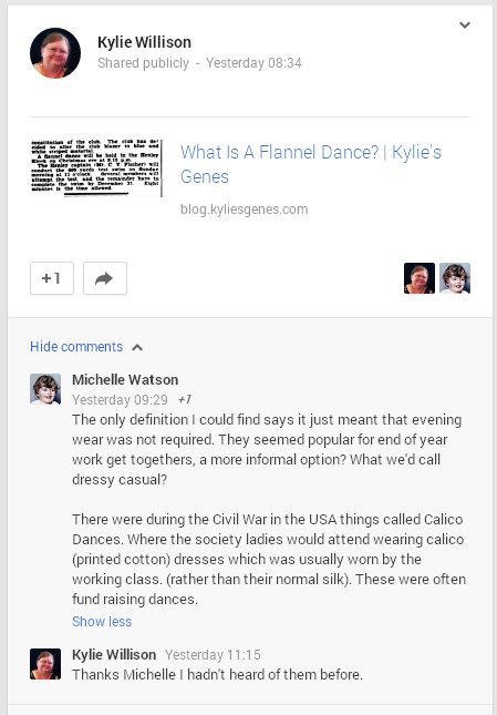 response on google plus