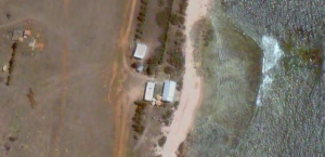 Aerial view of Flinders Island homestead