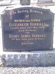 Elizabeth Verrall nee Thomson Henry James Verrall Golden Grove Cemetery