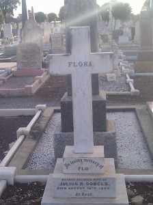 Headstone of Flora Sobels