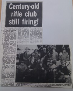 Salisbury Rifle Club newspaper clipping
