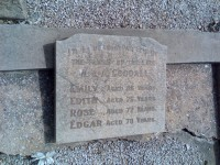 Emily, Edith, Rose and Edgar Goodall Hindmarsh Cemetery