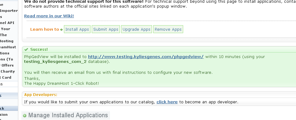 Installing phpgedview