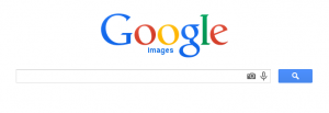 Google images search box showing camera icon