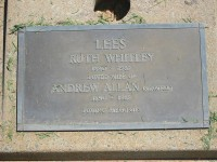 Ruth Whitley Lees Andrew Allan Lees Elmore Cemetery