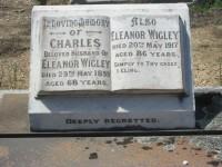 Charles Wigley Eleanor Wigley nee Greenway Bendigo Cemetery