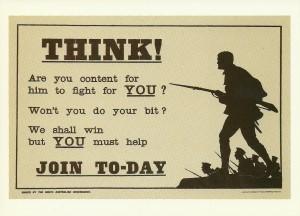 World War One Recruiting Poster